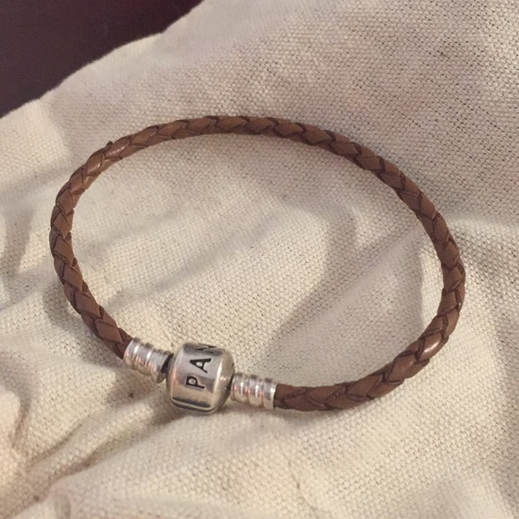 Pandora Jewelry - Brown woven leather Pandora bracelet
